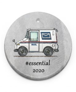 Postal Worker - Mail Carrier 2020 Thank You Essential Circle Ornament