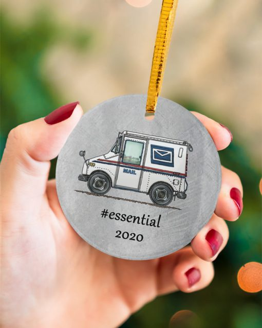 Postal Worker - Mail Carrier 2020 Thank You Essential Circle Ornament 3