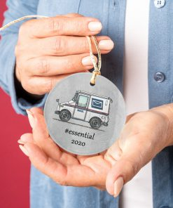 Postal Worker - Mail Carrier 2020 Thank You Essential Circle Ornament 4
