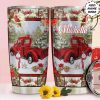 Red Christmas Truck personalized tumbler