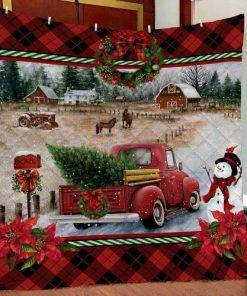 Red Truck Christmas Quilt 1