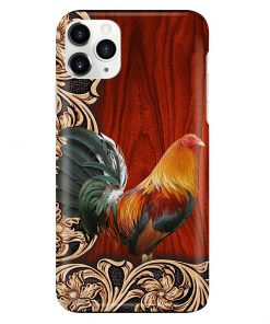 Rooster Wood Pattern Phone Case