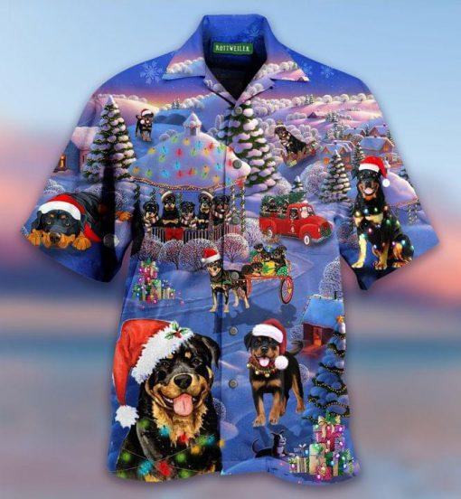Rottweilers Christmas Hawaiian Shirt