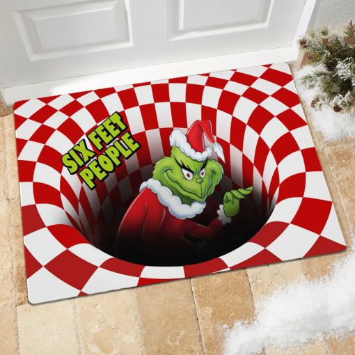 Six Feet People Grinch Optical illusion 3D Hole Doormat