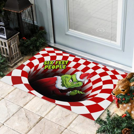 Six Feet People Grinch Optical illusion 3D Hole Doormat1