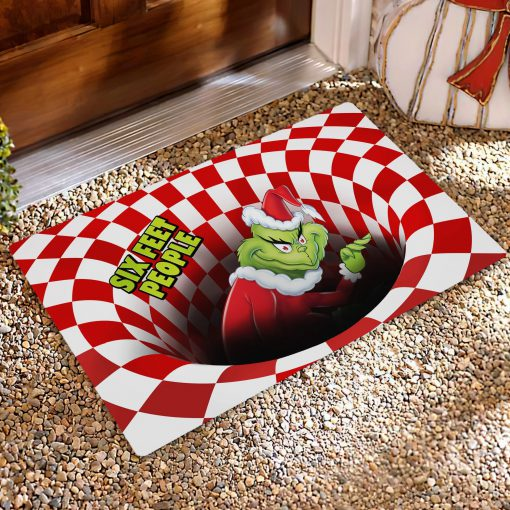 Six Feet People Grinch Optical illusion 3D Hole Doormat2