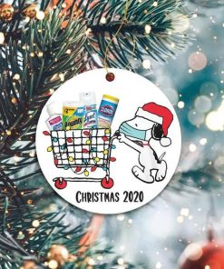 Snoopy Shopping for Christmas 2020 Ornament 1