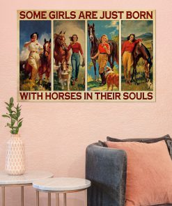 Some girls are just born with horses in their souls poster 1