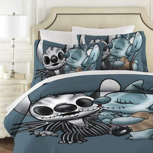 Stitch & Angel The Nightmare Before Christmas Bedding Set 1