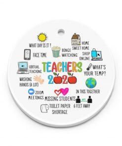 Teacher 2020 - Virtual teaching Ornament