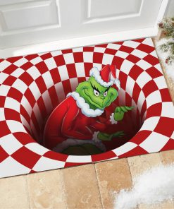 The Grinch Optical illusion 3D Hole Doormat