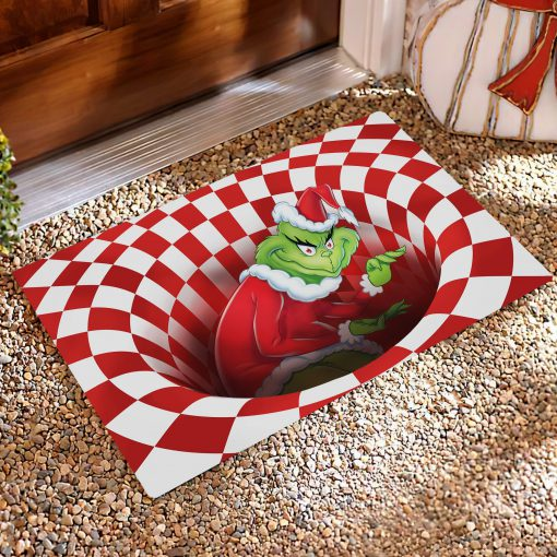 The Grinch Optical illusion 3D Hole Doormat1