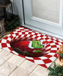 The Grinch Optical illusion 3D Hole Doormat2