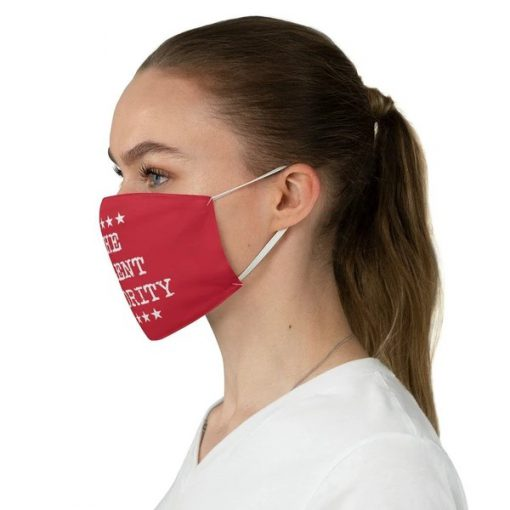 The Silent Majority Red face mask3