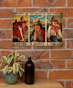 The soul of a witch the heart of a hippie the spirit of a cowgirl poster3