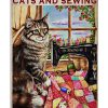 Time spent with cats and sewing is never wasted poster 2