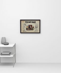 To my dad I know it's not easy for a man to raise a child and there is no way I can pay you back Rat Rod poster2