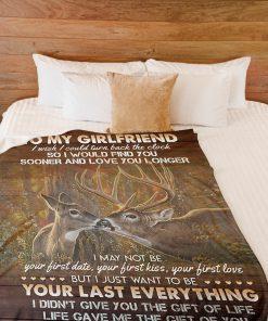 To my girlfriend I wish I could turn back the clock Deer fleece blanket1