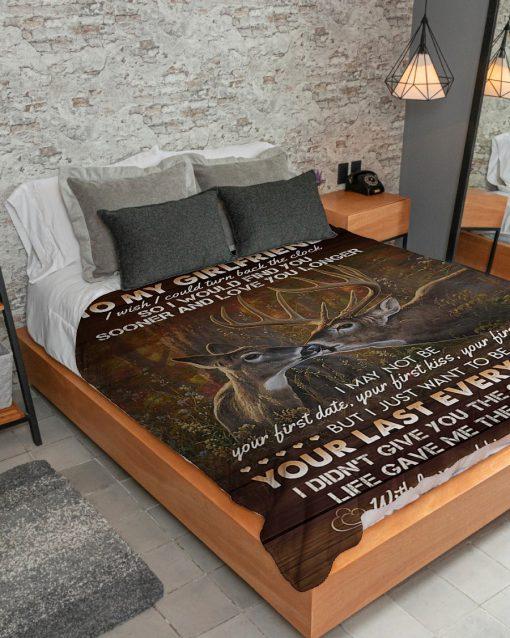 To my girlfriend I wish I could turn back the clock Deer fleece blanket6