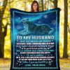 To my husband I want you through and through yesterday today tomorrow and everyday Wolf fleece blanket