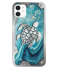 Turtle Metal Pattern Phone Case 11