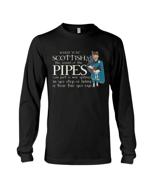 When ye're Scottish the sound of the pipes can put a wee spring long sleece