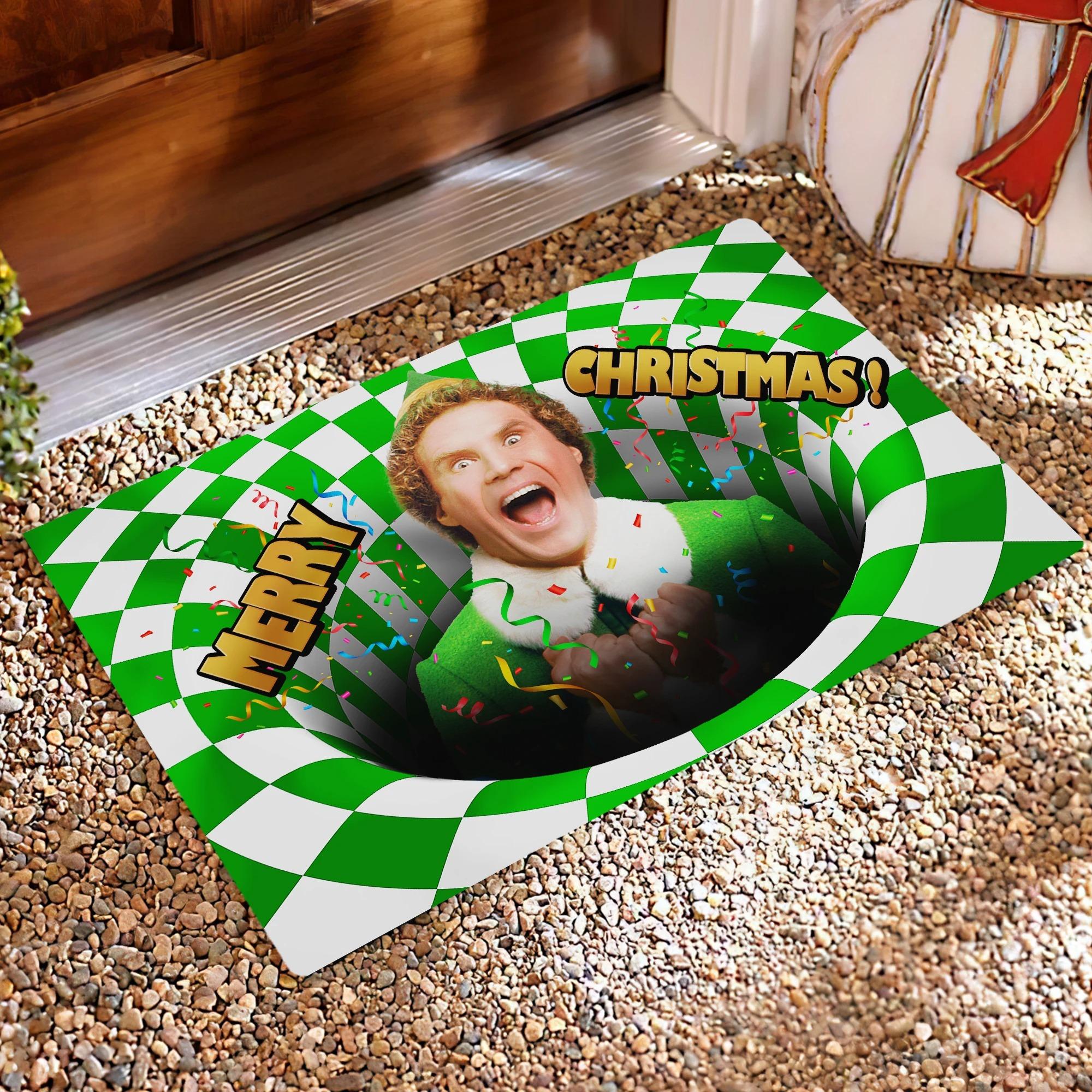 Will Ferrell Elf Optical illusion 3D Hole Doormat