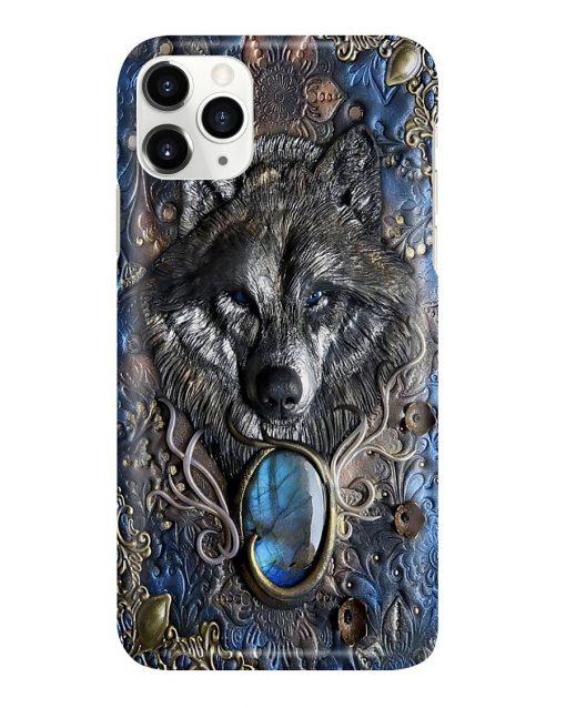 Wolf Wild Soul Gemstone pattern phone case1
