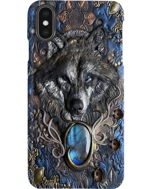 Wolf Wild Soul Gemstone pattern phone case2