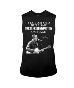 Yes I am old but I saw Chester Bennington on stage tank top