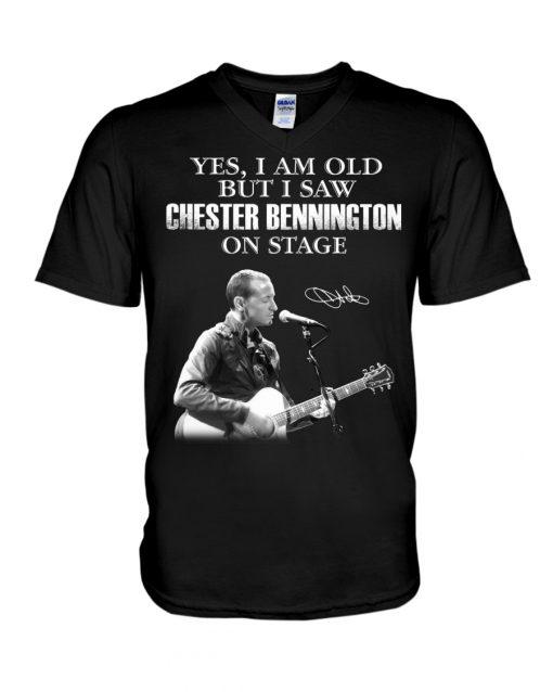 Yes I am old but I saw Chester Bennington on stage v-neck