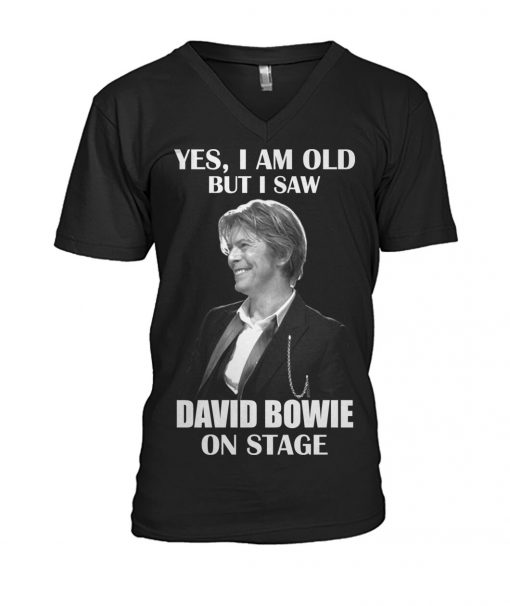 Yes I am old but I saw David Bowie on stage v-neck