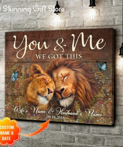 You And Me We Got This Lion personalized canvas 1