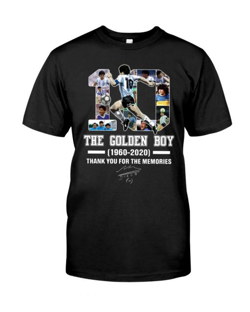10 The Golden Boy 1960-2020 Thank You For The Memories T-Shirt