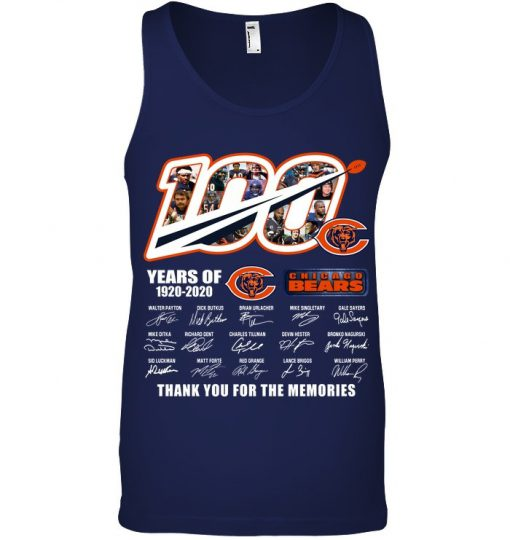 100 Years Of Chicago Bears 1920-2020 Thank You For The Memories Tank top