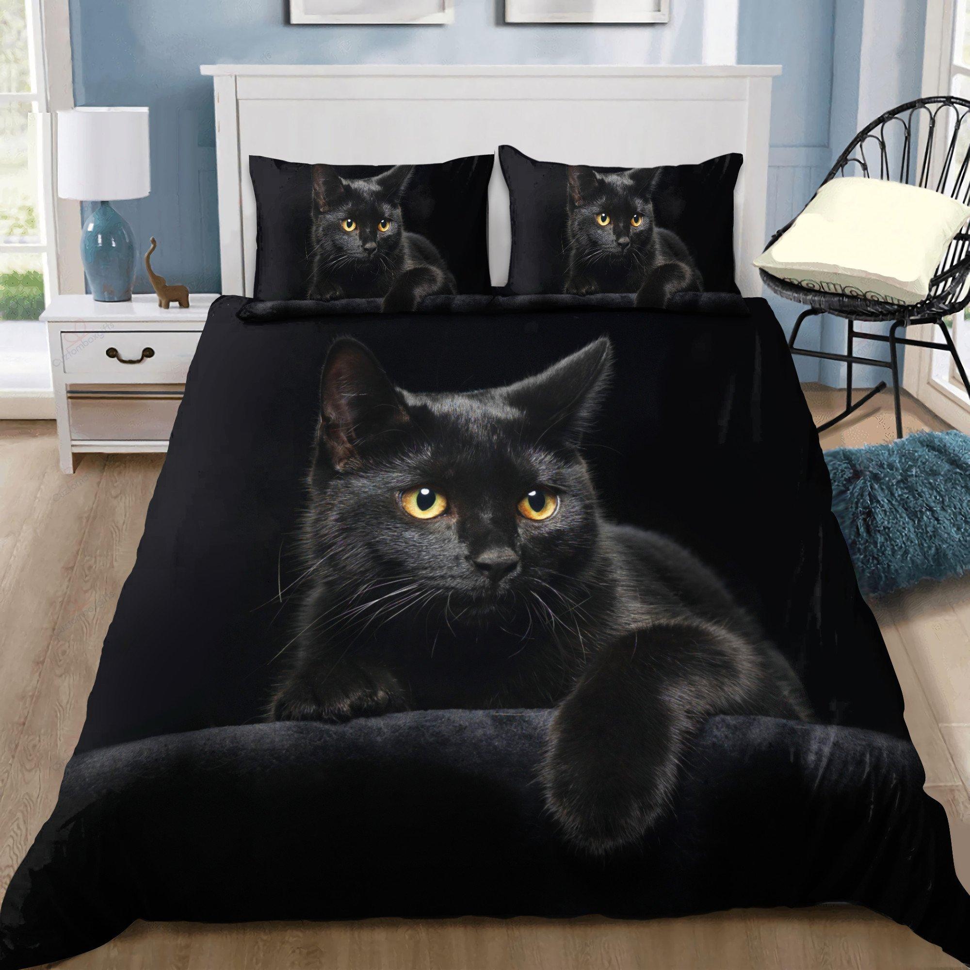 Black Cat Bedding Set 1