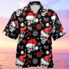 Black Christmas Santa Skull Hawaiian Shirt