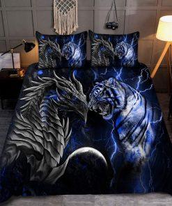 Blue Dragon Tiger Bedding Set