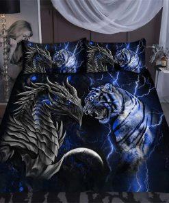 Blue Dragon Tiger Bedding Set1
