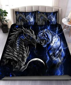 Blue Dragon Tiger Bedding Set2