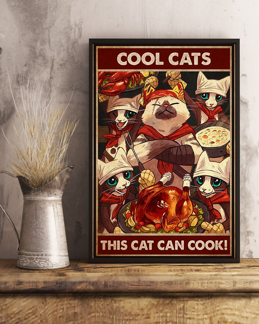 Cool Cats This Cat Can Cook Poster 1