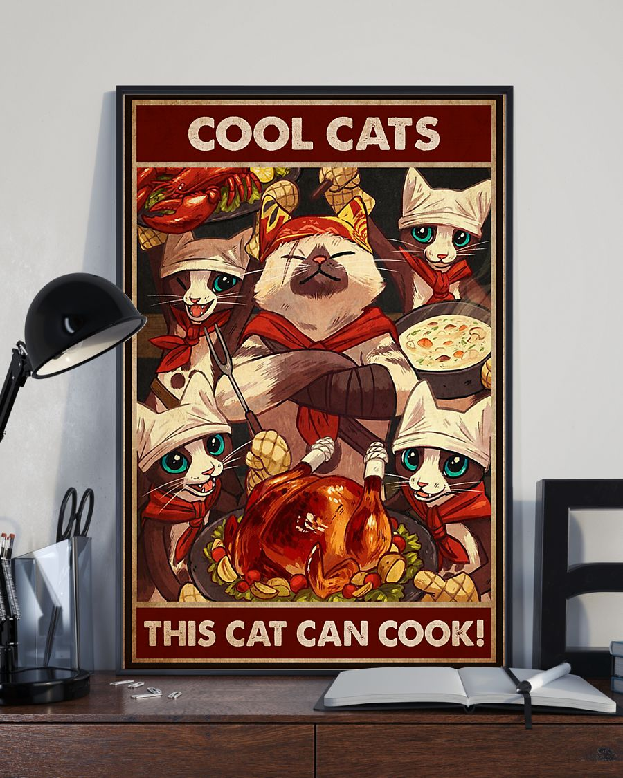 Cool Cats This Cat Can Cook Poster 2