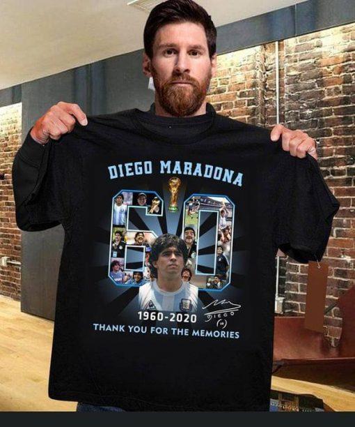 Diego Maradona 1960-2020 Thank You For The Memories Shirt