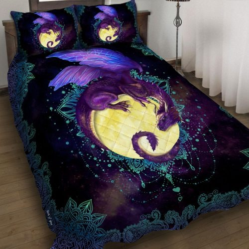 Dragon Of The Moon Quilt Bedding Set