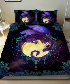 Dragon Of The Moon Quilt Bedding Set1