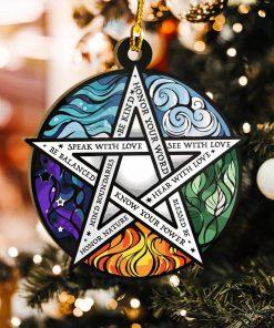 Element Pentacle Be Kind Ornament 2