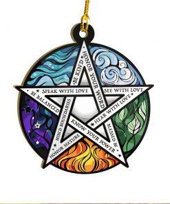 Element Pentacle Be Kind Ornament