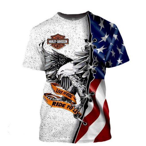 Harley Davidson Live To Ride 3d shirt