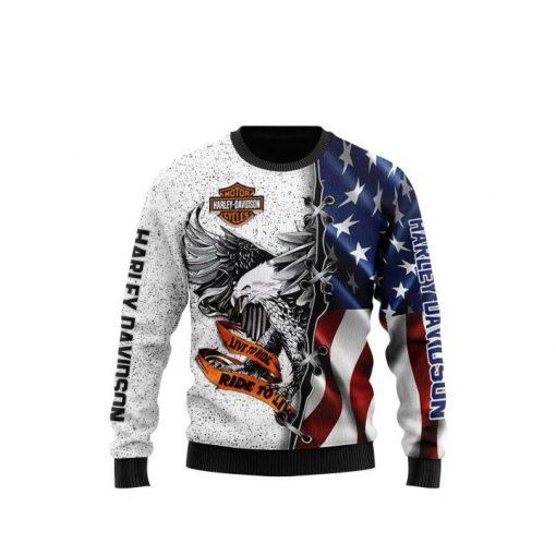 Harley Davidson Live To Ride 3d sweatshirt