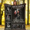 Hughes Fate Whispers To The Warrior You Cannot Withstand The Storm And The Warrior Whispers Back I Am The Storm Fleece Blanket 1